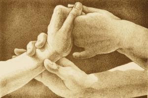 técnica de massagem nas mãos